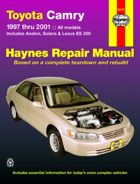 Toyota Camry (97-01) covering Solara (99-01), Avalon (97-01), & Lexus ES 300 (97-01) Haynes Repair Manual (USA)
