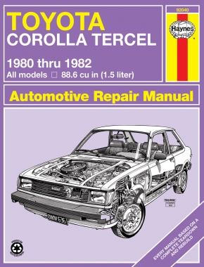 Toyota Corolla Tercel (1980-1982) Haynes Repair Manual (USA)