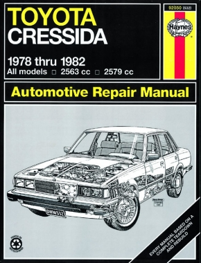 Toyota Cressida (1978 - 1982) Haynes Repair Manual (USA)