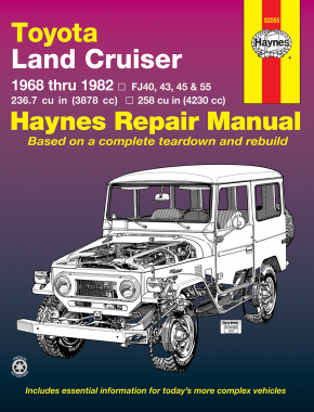 Toyota Land Cruiser Series FJ40, FJ43, FJ45 & FJ55 (1968-1982) Haynes Repair Manual (USA)
