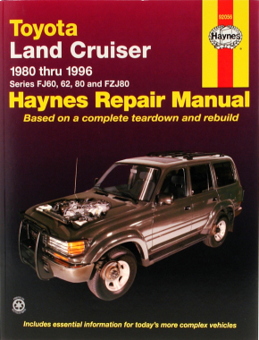 Toyota Land Cruiser Series FJ60, 62, 80 & FZJ80 (1980-1996) Haynes Repair Manual (USA)