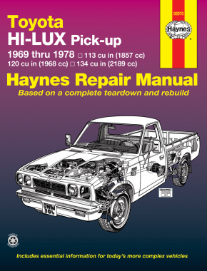 Toyota Hi-Lux & Hi-Ace pick-ups (1969-1978) Haynes Repair Manual (USA)