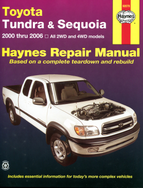 Toyota Tundra 2WD & 4WD (2000-2006) & Sequoia (2001-2007) Haynes Repair Manual (USA)
