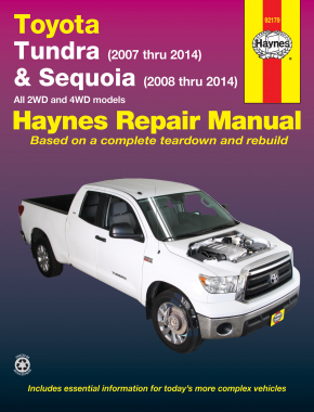 Toyota 2WD & 4WD Tundra (2007-2014) & Sequoia (2008-2014) Haynes Repair Manual (USA)