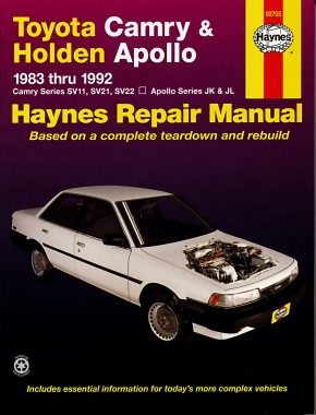 Toyota Camry (83-92) & Holden Apollo (89-93) Haynes Repair Manual