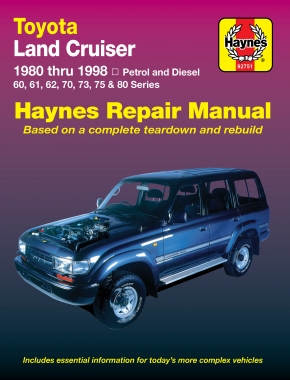 Toyota Land Cruiser (1980 - 1998) Haynes Repair Manual