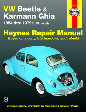 Volkswagen VW Beetle & Karmann Ghia (1954-1979) Haynes Repair Manual (USA)