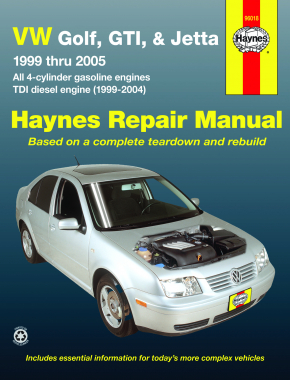 Volkswagen VW Golf, GTI, & Jetta (1999-2005)& TDI diesel (1999-2004) Haynes Repair Manual (USA)