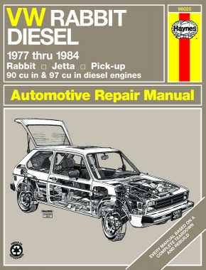Volkswagen VW Rabbit, Jetta & Pick-up 77-84 with diesel engines Haynes Repair Manual