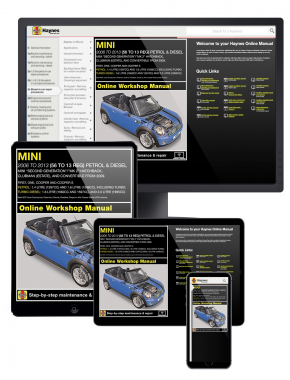 MINI Petrol and Diesel (Nov 06 - 13) 56 to 13 Haynes Online Manual