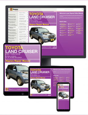 Toyota Land Cruiser Petrol and Diesel (2007-2016) Haynes Online Manual