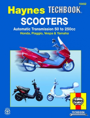 Scooters with Automatic Transmission 50 to 250 CC Haynes Techbook Haynes Repair Manual