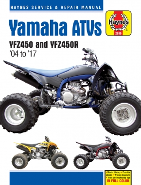 Yamaha YFZ450 & YFZ450R ATVs (04-17) Haynes Repair Manual