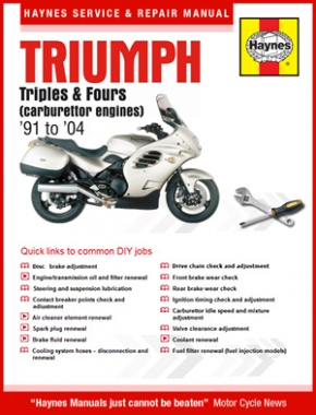 Triumph Triples and Fours (carburettor engines) (91-04) Haynes Online Manual