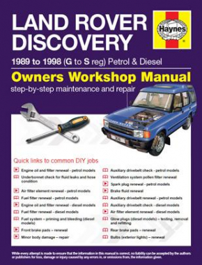 Land Rover Discovery Petrol and Diesel (89 - 98) Haynes Online Manual