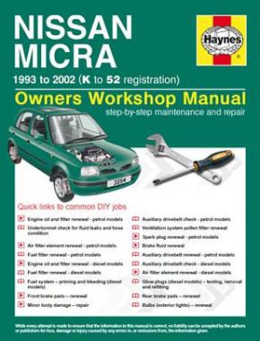 Nissan Micra (93 - 02) K to 52 Haynes Online Manual