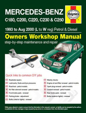 Mercedes-Benz C-Class Petrol and Diesel (93 - Aug 00) L to W Haynes Online Manual