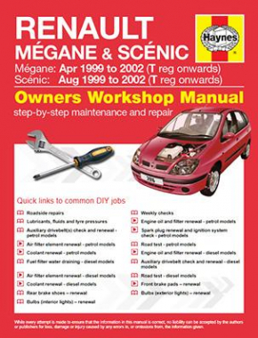 Renault Megane and Scenic Petrol and Diesel (Apr 99 - 02) T to 52 Haynes Online Manual
