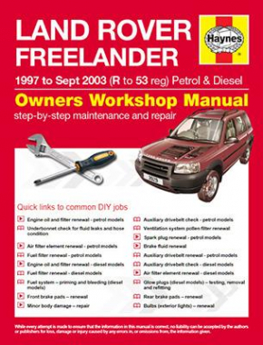 Land Rover Freelander Petrol & Diesel (1997 - Sept 03) R to 53 Haynes Online Manual