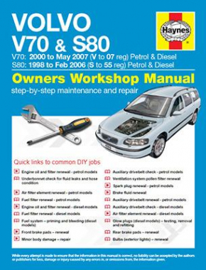 Volvo V70 / S80 Petrol and Diesel (98 - 07) S to 07 Haynes Online Manual