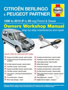 Citroen Berlingo and Peugeot Partner Petrol and Diesel (96 - 10) P to 60 Haynes Online Manual