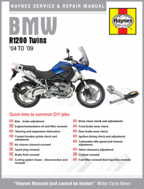 BMW R1200 Twins 2004 - 2009 Haynes Online Manual
