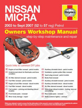 Nissan Micra (03 - Oct 10) 52 to 60 Haynes Online Manual