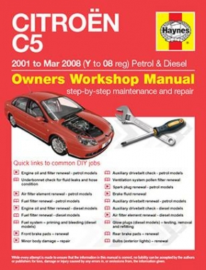 Citroen C5 Petrol and Diesel (01 - Mar 08) Y to 08 Haynes Online Manual