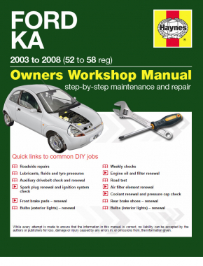 Ford Ka 1.3L petrol (03-08) Haynes Online Manual
