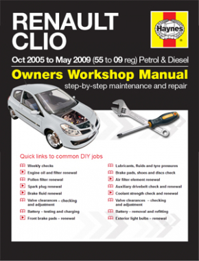 Renault Clio Petrol and Diesel (Oct 05 - May 09) 55 to 09 Haynes Online Manual