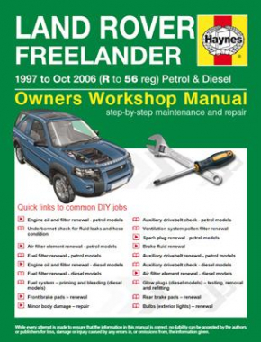 Land Rover Freelander (97 - Oct 06) R to 56 Haynes Online Manual