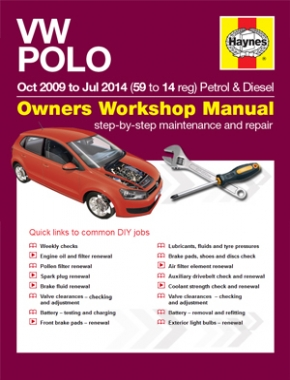 VW Polo 2009 - 2014 Haynes Online Manual