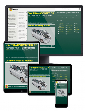 VW T5 Transporter July '03 - '15 (03 to 65 reg) Haynes Online Manual