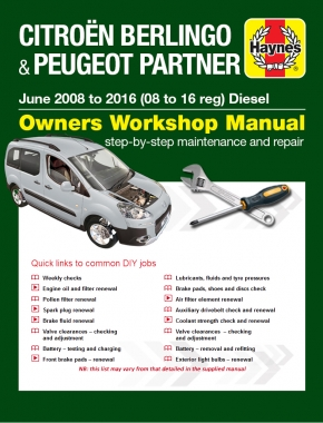 Citroen Berlingo & Peugeot Partner Diesel (June 08 - 16) 08 to 16 Haynes Online Manual