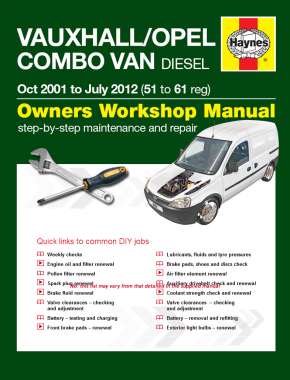 Vauxhall/Opel Combo Diesel Van (Oct 2001 to Jan 2012) 51 to 61 Haynes Digital Manual