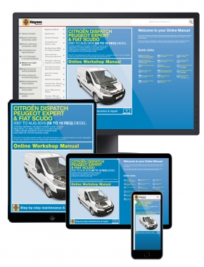 Citroen Dispatch, Peugeot Expert & Fiat Scudo Diesel 56 to 16 (07 - Aug 16) Haynes Online Manual