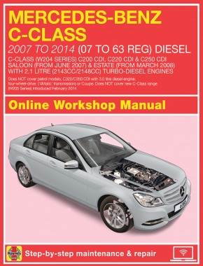 Mercedes-Benz C-Class Diesel (Jun 07 - Feb 14) 07 to 63 Haynes Online Manual