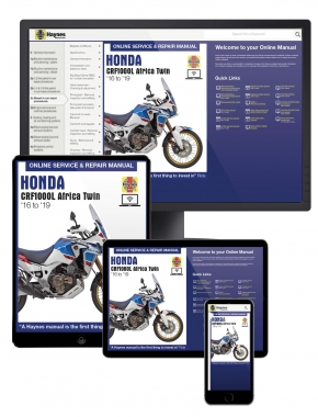 Honda CRF1000 Africa Twin (16-19) Haynes Online Manual