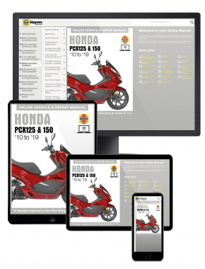 Honda PCX125 & 150 Scooters (10 to 19) Haynes Online Manual
