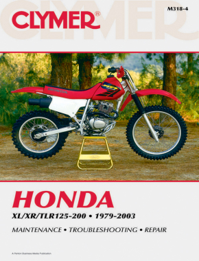 Honda XL/XR/TLR 125-200 Motorcycle (1979-2003) Service Repair Manual