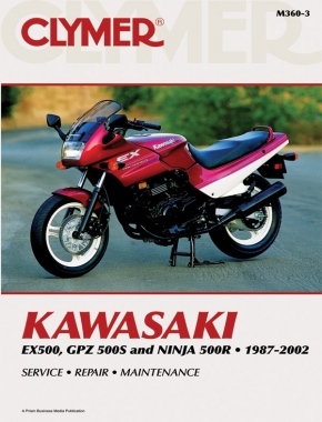 Kawasaki EX500, GPZ 500S & Ninja 500R Motorcycle (1987-2002) Service Repair Manual