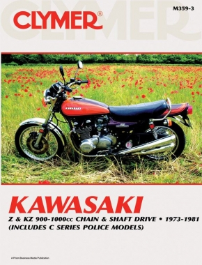 Kawasaki Z & KZ 900-1000cc Chain & Shaft Drive Motorcycle (1973-1981) Service Repair Manual