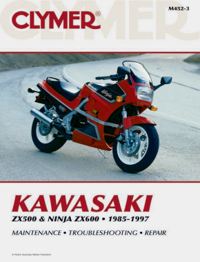 Kawasaki ZX500 & Ninja ZX600 Motorcycle (1985-1997) Service Repair Manual