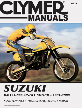 Suzuki RM125-500 Single Shock Motorcycle (1981-1988) Service Repair Manual