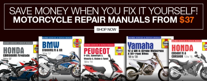 Motorcycle Print Manuals from $37