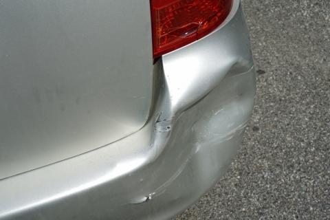 dent in bumper cover