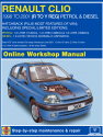 Renault Clio Petrol and Diesel (May 98 - May 01) R to Y Haynes Online Manual