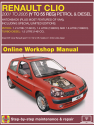 Renault Clio Petrol and Diesel (Jun 01 - 05) Y to 55 Haynes Online Manual