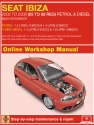 Seat Ibiza Petrol & Diesel (May 02 - Apr 08) 02 to 08 Haynes Online Manual