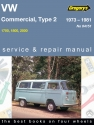 Volkswagen Commercial Series, 1700, 1800, 2000 (73 - 81) Gregorys Repair Manual